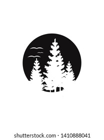 Abstract Tree forest template logo