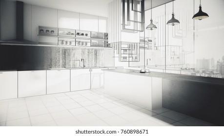 Surprising Modern Kitchen Cabinets In Studio Images Stock Photos Download Free Architecture Designs Jebrpmadebymaigaardcom