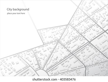 Abstract urban background. Imaginary city plan.