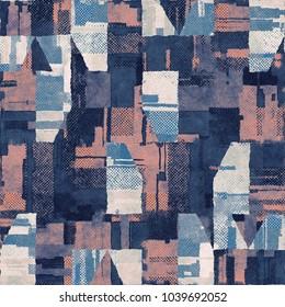 Abstract Urban Broken Graphic Motif. Seamless Pattern.