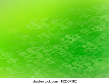 Abstract US Dollar Sign Green Healthcare and Financial Background. Perfect for all types of financial communication arts.