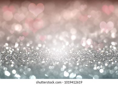 Abstract of Valentinve bokeh light background.