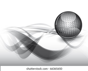 Abstract vector background in gray style with steel sphere jpg version