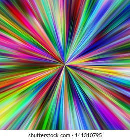 Abstract vibrant colors explosion.