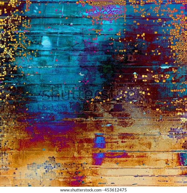 Abstract vintage colored background. With different color patterns: yellow (beige); brown; blue; red (orange); purple (violet); pink