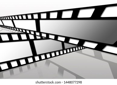 abstract vintage film strip in front of white background - 3D Illustration