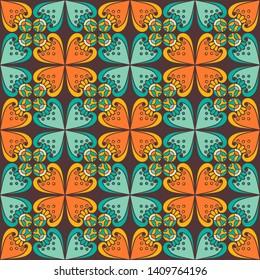 Abstract walpaper, geometric ornament, batik