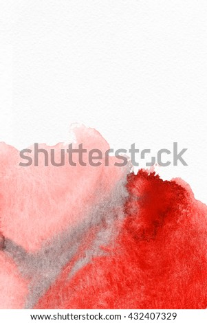 Abstract Water Color Background Advertizing Rosered Stock