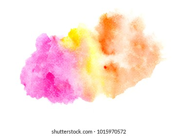 abstract water colorful splatter stroke background.by drawing image