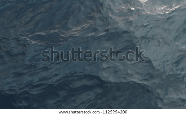 Abstract Water Surface. Top View. 3D illustration