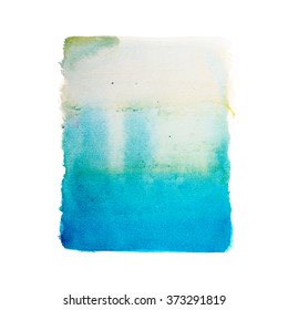 Abstract watercolor aquarelle paint hand drawn colorful splatter stain