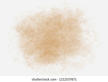 Abstract watercolor art hand painted on white background. Aquarelle background of brown color.