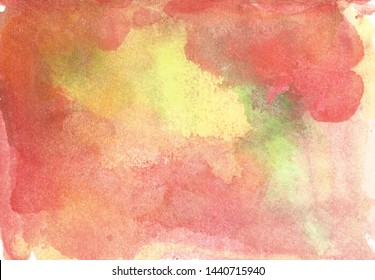 Abstract watercolor background. Bright colors. brush strokes and stains of paint on paper