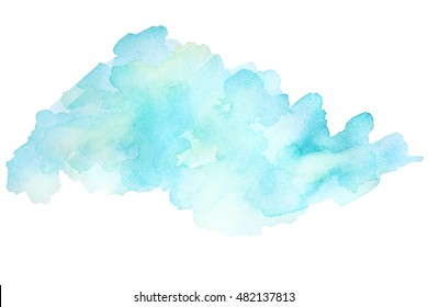 Abstract watercolor background. Dreamy, blurred backdrop. Elegant, feminine, tender abstraction.
