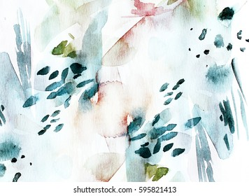 Abstract watercolor background. Hand drawn watercolor wallpaper, cover.