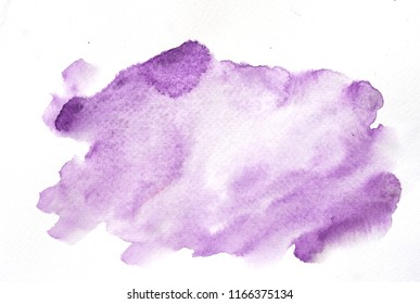 Abstract watercolor background texture on white, hand paint
