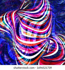 Arrière-plan abstrait à l'aquarelle clair avec différents éléments d'onde colorés