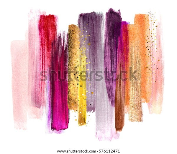 abstract watercolor brush strokes, creative illustration, artistic color palette