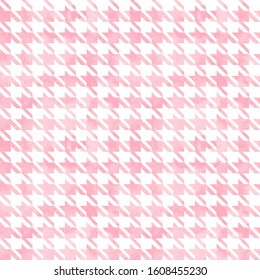 Abstract watercolor grunge hand painted houndstooth monochrome  seamless pattern