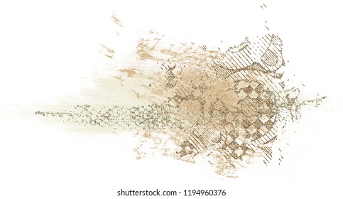 Abstract watercolor, Hand painted illustration on white background