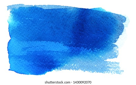 Abstract watercolor light blue hand paint texture, isolated on white background. Watercolor papaer texture.