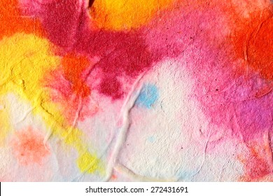 Abstract watercolor - the Milky Way. Red summer. Backgrounds & textures shop.