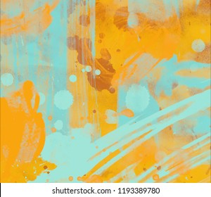 Abstract watercolor on paper. Colorful art texture. Artistic backdrop.