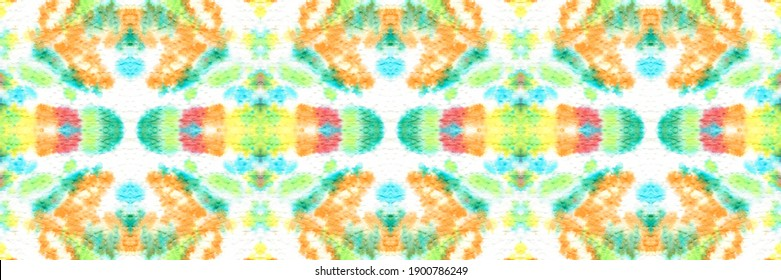 Abstract watercolor painting colorful seamless pattern. Handmade graffiti with watercolor spots. Tie dye artwork. Dirty art material background. Creative wrapping print.