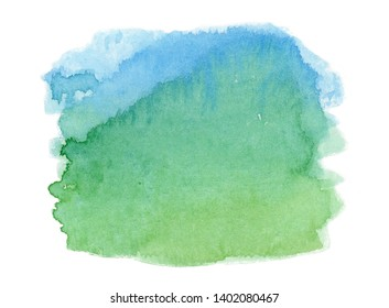 abstract watercolor paper texture background. watercolor stain isolated on white background