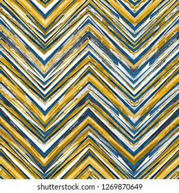 Abstract watercolor seamless pattern. Artwork in geometric modern style. Zig Zag. Contemporary. Surface design.