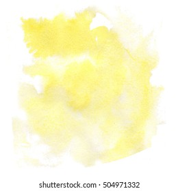 abstract watercolor splash. watercolor drop yellow isolated blot for your design