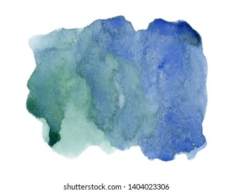 abstract watercolor stain on white background