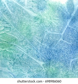 abstract watercolor texture - blue and green
