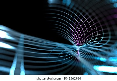 Abstract wave background of technology and science.Mesh or net with lines and geometrics shapes detail.3d illustration