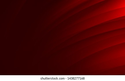 Abstract wave red black dark gradient geometric background.Curved lines graphic design.