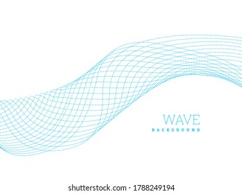 Abstract waves from lines. Blend design. illustration on white background.