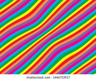 Abstract wavy striped background in bright primary colours perfect for parties and celebrations.