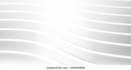 abstract white architectural background 3d illustration