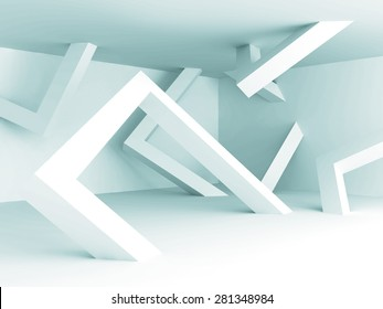 Abstract White Architecture Empty Interior Background. 3d Render Illustration