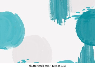 Abstract white background with blue and gray brush strokes and paint splashes. Modern hand drawn textures. Trendy abstract design for paper, cover, fabric, interior decor and other users.
