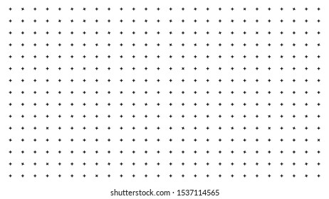Abstract white background with rotating crosses. Animation. Bright white background with black pluses for focus and vision concentration. Alternate unexpected rotation of crosses