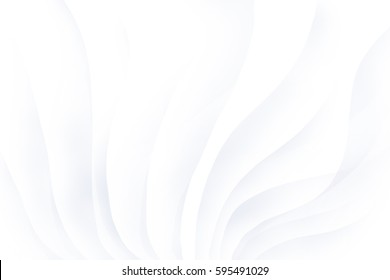 Abstract white background with smooth lines.