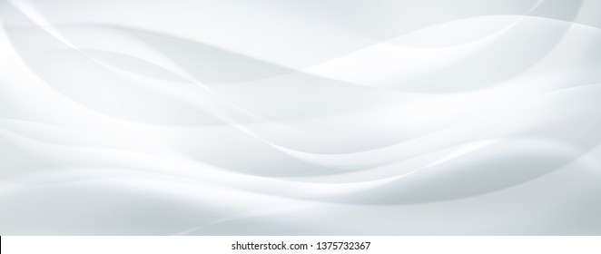 abstract white background with smooth wavy lines