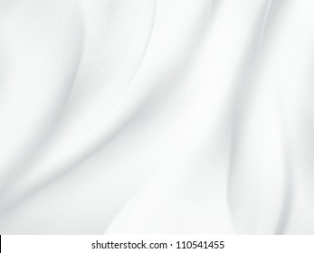 abstract white background with soft waves