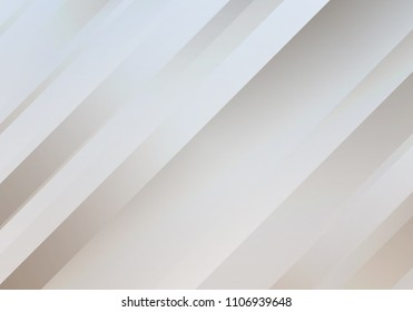 Abstract White Background with Stripes. Digital Minimal Banner. Pearl Colored Sleek Texture.