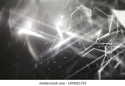 Abstract white and black background. Explosion star. Motion background. illustration digital.