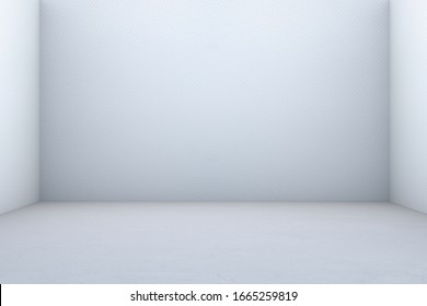 Abstract White Empty  Room Background. 3D Render Paper Box.