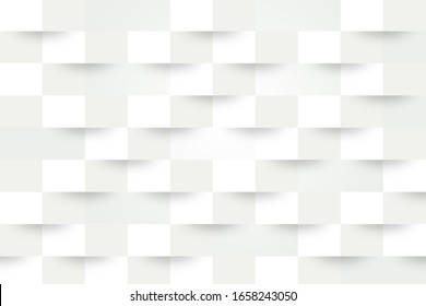 Abstract white geometric background. For design or advertising. 3D illustration pattern.