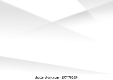 Abstract white and gray gradient background, geometric modern design.