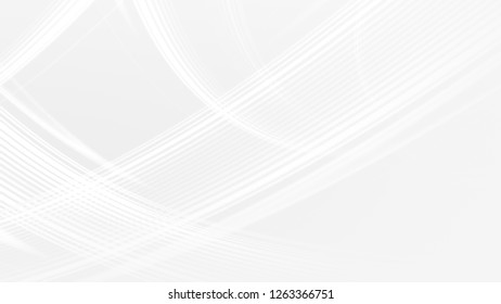 Abstract white gray gradient geometric background. Neon light curved lines and shape with color graphic design.